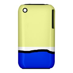 Yellow and blue simple design Apple iPhone 3G/3GS Hardshell Case (PC+Silicone) by Valentinaart