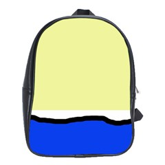 Yellow And Blue Simple Design School Bags (xl)  by Valentinaart
