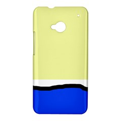 Yellow and blue simple design HTC One M7 Hardshell Case