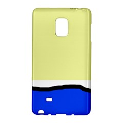 Yellow and blue simple design Galaxy Note Edge