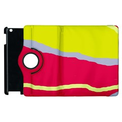 Red And Yellow Design Apple Ipad 3/4 Flip 360 Case by Valentinaart
