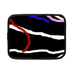 Decorative Lines Netbook Case (small)  by Valentinaart