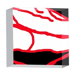 Red, black and white design 5  x 5  Acrylic Photo Blocks by Valentinaart