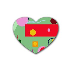 Optimistic Abstraction Heart Coaster (4 Pack)  by Valentinaart