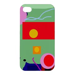 Optimistic Abstraction Apple Iphone 4/4s Hardshell Case by Valentinaart