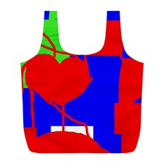 Abstract Hart Full Print Recycle Bags (l)  by Valentinaart
