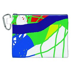 Colorful Abstraction Canvas Cosmetic Bag (xxl) by Valentinaart