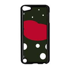 Red, Black And White Abstraction Apple Ipod Touch 5 Case (black) by Valentinaart