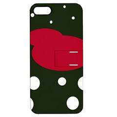 Red, Black And White Abstraction Apple Iphone 5 Hardshell Case With Stand by Valentinaart