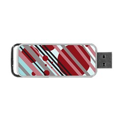 Colorful Lines And Circles Portable Usb Flash (one Side) by Valentinaart