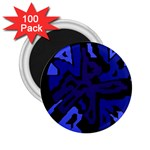 Deep blue abstraction 2.25  Magnets (100 pack)