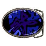 Deep blue abstraction Belt Buckles