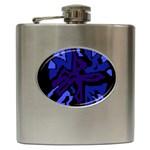 Deep blue abstraction Hip Flask (6 oz)