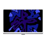Deep blue abstraction Business Card Holders