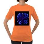 Deep blue abstraction Women s Dark T-Shirt