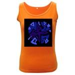 Deep blue abstraction Women s Dark Tank Top