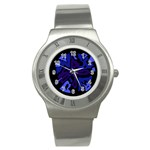 Deep blue abstraction Stainless Steel Watch