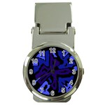 Deep blue abstraction Money Clip Watches