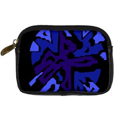 Deep blue abstraction Digital Camera Cases by Valentinaart