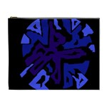 Deep blue abstraction Cosmetic Bag (XL)