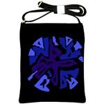 Deep blue abstraction Shoulder Sling Bags