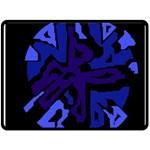 Deep blue abstraction Fleece Blanket (Large)