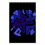 Deep blue abstraction Shower Curtain 48  x 72  (Small)