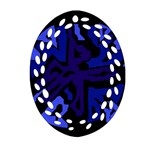 Deep blue abstraction Ornament (Oval Filigree)