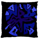 Deep blue abstraction Large Cushion Case (One Side)