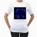 Deep blue abstraction Women s T-Shirt (White)