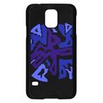 Deep blue abstraction Samsung Galaxy S5 Case (Black)
