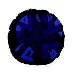 Deep blue abstraction Standard 15  Premium Flano Round Cushions