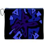 Deep blue abstraction Canvas Cosmetic Bag (XXXL)