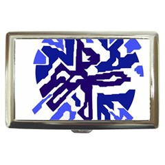 Deep blue abstraction Cigarette Money Cases by Valentinaart