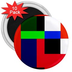 Colorful Abstraction 3  Magnets (10 Pack)  by Valentinaart