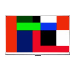 Colorful Abstraction Business Card Holders by Valentinaart