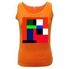 Colorful abstraction Women s Dark Tank Top by Valentinaart