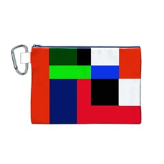 Colorful Abstraction Canvas Cosmetic Bag (m) by Valentinaart