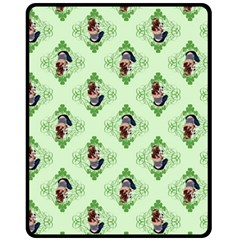 Pit Bull T Bone Lucky Puppy 2009  Fleece Blanket (medium)  by ButThePitBull