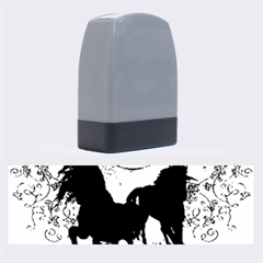 Wonderful Black Horses, With Floral Elements, Silhouette Name Stamps by FantasyWorld7