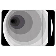 Gray abstraction iPad Air 2 Flip by Valentinaart