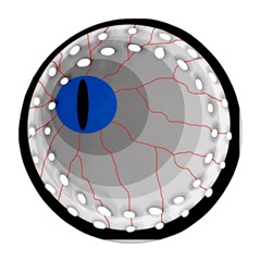 Blue eye Ornament (Round Filigree)  by Valentinaart