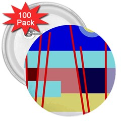 Abstract Landscape 3  Buttons (100 Pack)  by Valentinaart