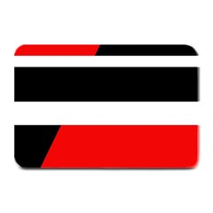 Red, White And Black Abstraction Plate Mats by Valentinaart