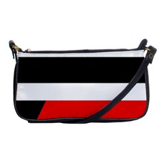 Red, White And Black Abstraction Shoulder Clutch Bags by Valentinaart