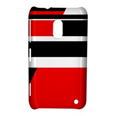 Red, White And Black Abstraction Nokia Lumia 620 by Valentinaart