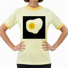 Egg Women s Fitted Ringer T-Shirts