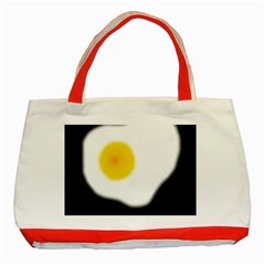 Egg Classic Tote Bag (Red) by Valentinaart