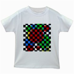 Colorful Abstraction Kids White T Shirts by Valentinaart