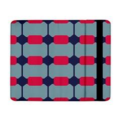 Red blue shapes pattern                                                                                     Samsung Galaxy Tab Pro 8.4  Flip Case by LalyLauraFLM
